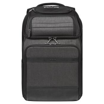 泰格斯(Targus)商務休閑雙肩包筆記本電腦包 15.6英寸 通勤防水雙肩背包 黑色 TSB913
