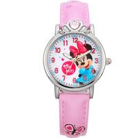 Disney 迪士尼 MK-14026P 女孩米妮公主石英表(粉色) 防水夜光