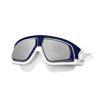 范德安(BALNEAIRE)YJ010 范德安新款大框成人泳镜高清防水防雾男女通用专业泳镜 蓝白0度