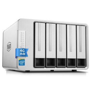 铁威马(TerraMaster)F5-420 企业级Intel四核 五盘位NAS网络存储服 云存储务器 双千兆网口