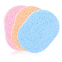 優家(UPLUS)橢圓形潔面撲洗臉棉3片裝(卸妝 洗臉撲 親膚海綿 顏色隨機) *23件