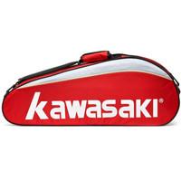 川崎KAWASAKI 羽毛球包 獨立鞋袋單肩包 6支裝 TCC-047 紅色