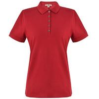 BURBERRY 巴宝莉 女款军红色弹力棉珠地网眼布短袖POLO衫 45576941 XS码 175/84A
