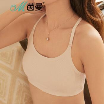茵曼(INMAN)9882432050 舒适立体蕾丝美背透气抹胸 肤色 均码