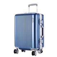 外交官(Diplomat)鏡面箱子鋁框拉桿箱萬向輪行李箱男女旅行箱密碼箱TC-9033 玫瑰金 25英寸