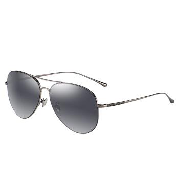 海伦凯勒开车眼镜 偏光太阳镜男女款驾驶镜 情侣款蛤蟆镜 H8555 枪框黑灰渐进片N02-1