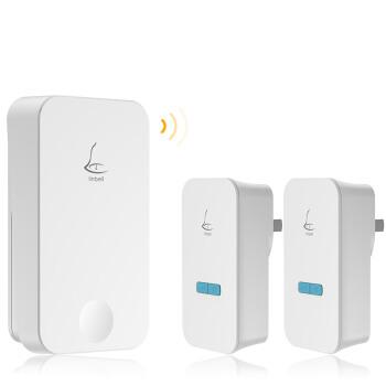 领普科技(linptech)门铃 家用别墅用无线门铃不用电池自发电远距离防水 G4一拖二