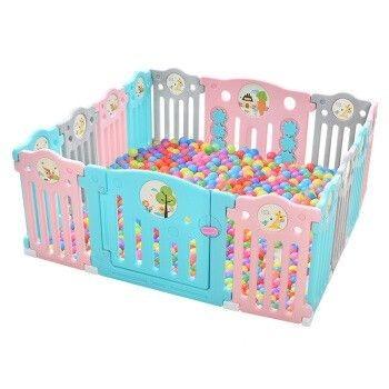 AOLE-HW 澳乐 儿童婴儿游戏围栏 14片+门栏+趣味栏