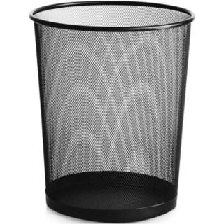 家杰(JJ)垃圾桶 中号φ265mm稳固金属丝网垃圾篓 办公室居家纸篓 JJ-105黑色