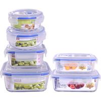 京東PLUS會員 : 青蘋果 BXH6-1 玻璃保鮮盒 6件套 *2件