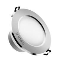 歐普照明(OPPLE)led筒燈3W超薄桶燈客廳吊頂天花燈過道嵌入式孔燈牛眼燈 開孔7-8厘米 *5件