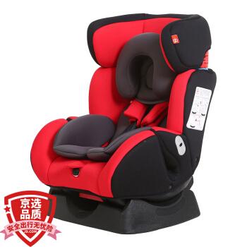 gb好孩子 高速汽车儿童安全座椅 欧标五点式安全带 双向安装 CS718-N003 红黑灰适用年龄(0-7岁)