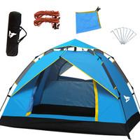 北極狼 (BeiJiLang)全自動帳篷戶外2-3人野營速開帳篷超輕便攜 藍色