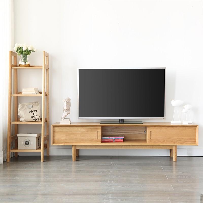 原始原素 FS-TV401 富士两抽推拉门电视柜 原木色 1.6m
