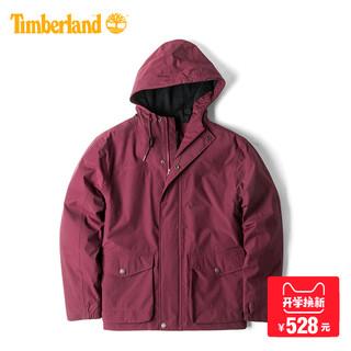 Timberland 添柏岚 7166J 男装防水连帽外套 (L、红色)