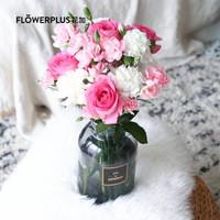 京东PLUS会员、送礼佳品 : FLOWERPLUS 花加 悦花 订阅鲜花 单次体验 (送花瓶)