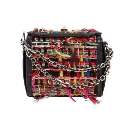 ALEXANDER MCQUEEN BOX 女士箱型斜挎包