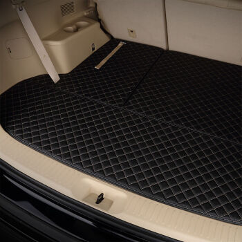驰钦汽车后备箱垫皮革尾箱垫专车专用于奇骏速腾哈佛H6朗逸长安cs55等 单垫-黑色