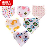 京東PLUS會員 : Nan ji ren 南極人 嬰兒純棉口水巾 (5條裝) *11件