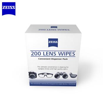 蔡司 ZEISS 专业光学拭镜纸 擦镜纸 眼镜 相机镜头 镜片清洁湿巾 200片装