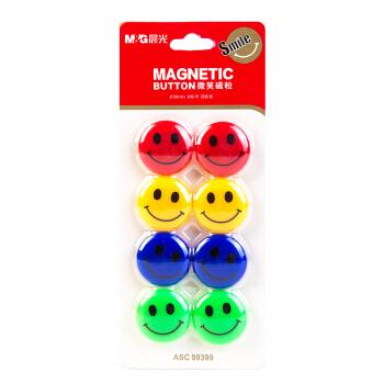 M&G 晨光 ASC99399 白板专用磁扣 8粒装Φ28mm