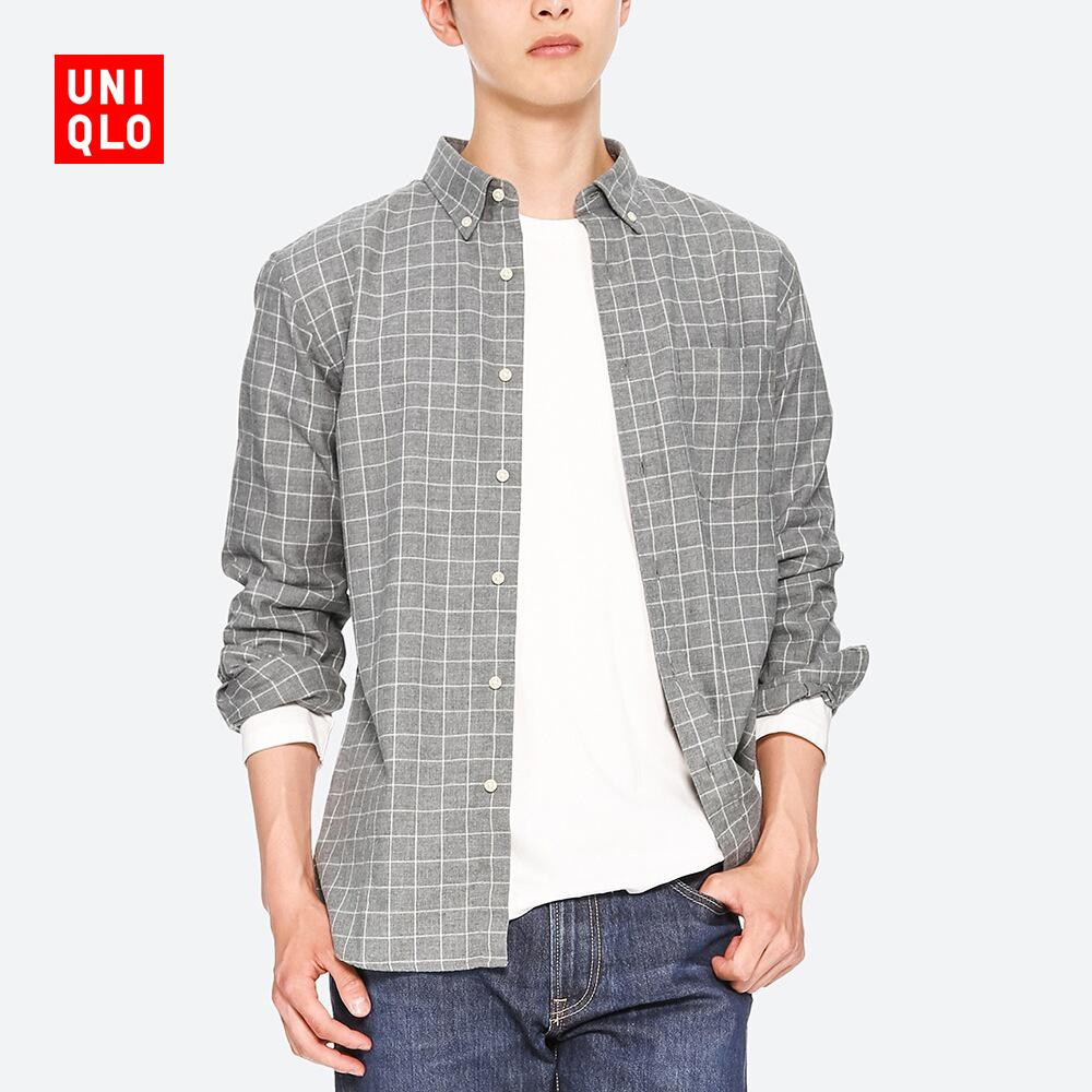 UNIQLO 优衣库 411902 男士法兰绒格子衬衫