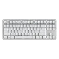 RK(ROYAL KLUDGE)987機械鍵盤有線/無線藍牙鍵盤游戲鍵盤87鍵PBT鍵帽雙模多設備連接白光白色櫻桃茶軸自營