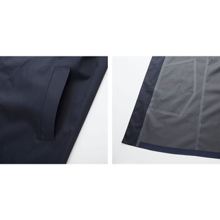 UNIQLO 优衣库 409338 男士风衣 (深灰色、170/92A(M))