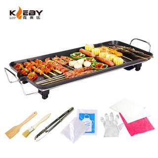 京东PLUS会员 : KLEBY 克来比 电烧烤炉 家用无烟电烤炉烤肉锅烧烤炉 韩式电烤盘烤肉机 大号 KLB9002
