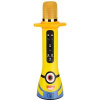 屁顛蟲(Hifier) 內置音箱小黃人兒童麥克風無線話筒K歌寶手機藍牙唱歌卡拉ok全民K歌話筒音響一體早教機益智