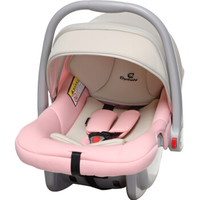 德国怡戈(Ekobebe)新生儿婴儿提篮式儿童汽车安全座椅0-15个月宝宝便携式摇篮车载手提篮EKO-007米粉色