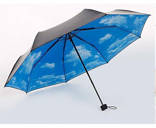 Yandex 黑胶三折晴雨伞