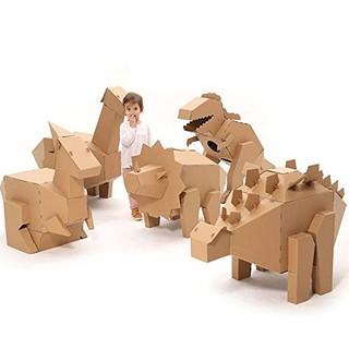熊孩智城堡 手工DIY纸壳玩具 恐龙模型