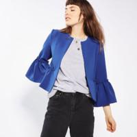 TOPSHOP 17C01LBLS 女士喇叭袖外套