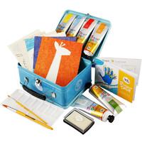 值友专享:Joan Miro 美乐 经典铁盒手指画 粉红/蓝色款