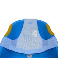 喜亲宝(K.S.babe)婴儿浴网 宝宝洗澡网兜 可调节的T字型防滑按摩沐浴床网兜(63×52cm蓝色通用款)