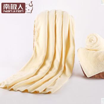 南极人(Nanjiren) 婴儿浴巾柔软新生儿童宝宝浴巾洗澡空调盖毯 奇迹黄 120*100cm
