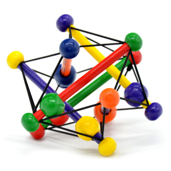 Manhattan Toy曼哈顿球手抓球 婴儿牙胶摇铃玩具木质串珠磨牙棒 扭乐希经典款