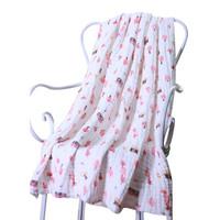 喜親寶 新生兒浴巾 105*120cm棕條紋 *3件