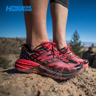 HOKA ONE ONE Speedgoat 2 女款越野跑鞋 (宝蓝/陶土褐、37.5)