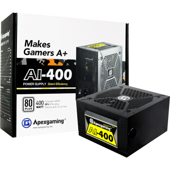 Apexgaming 美国艾湃电竞 AI-400 额定400W 台式机电源