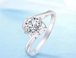 CRD  克徕帝 18K G0009 钻石戒指 13分