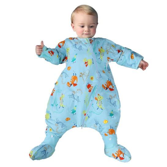 misslele 米乐鱼 婴儿分腿睡袋 小火龙