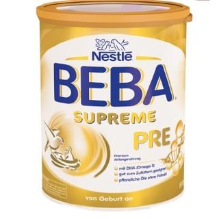Nestlé BEBA 贝巴 SUPREME 婴儿奶粉 pre段 800g