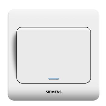 西门子(SIEMENS)开关插座 远景系列 单开单控 带荧光开关面板 (雅白色)5TA01131CC1