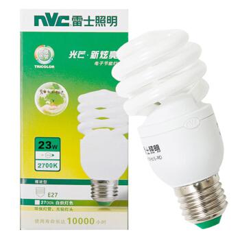 雷士照明(NVC)节能灯 E27大口螺旋23W2700K 白炽灯色(黄光)