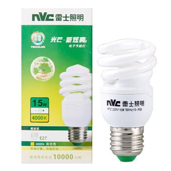 雷士照明(NVC)节能灯 E27大口螺旋15W4000K 冷白色(暖光 中间色)