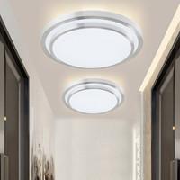 雷士照明(NVC)吸顶灯卧室灯led灯具 阳台过道灯 创意双层立体设计边框 圆形单色光 12W *3件