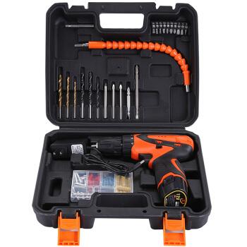 工蜂(WORKERBEE)12V锂电钻家用套装充电式手电钻电动螺丝刀扳手电转手钻起子工具箱78件双电池GCS1200Min-2
