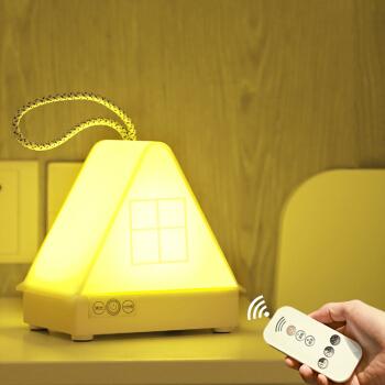 大头人 datouren 卧室床头小夜灯 婴儿宝宝喂奶灯充电遥控调光定时氛围夜光睡眠灯